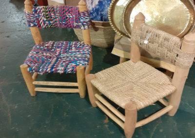 Wood & seagrasschairs