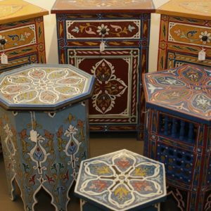 Zouak painted furniture