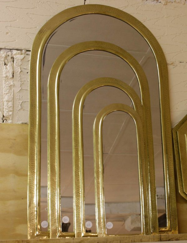 Arch-shaped Mirrors - Brass