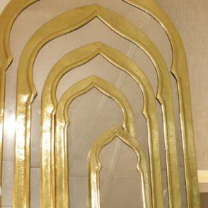 Door-shaped Mirrors - Brass
