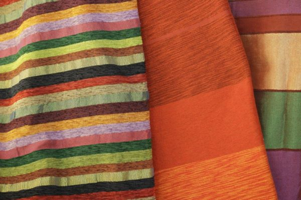 Hand woven cactus silk and cotton cloth