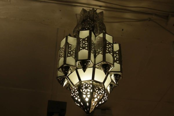 Glass and metal lampshades