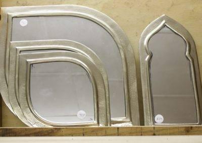 Hand beaten mirror frames