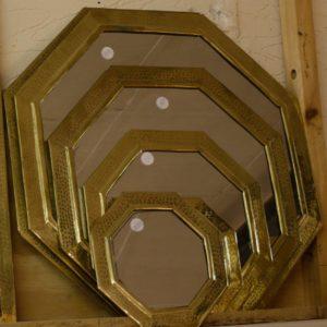 Hexagonal Mirrors - Brass