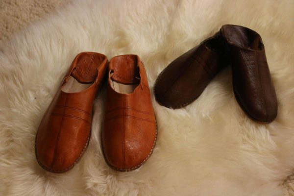 Leather-soled Slippers