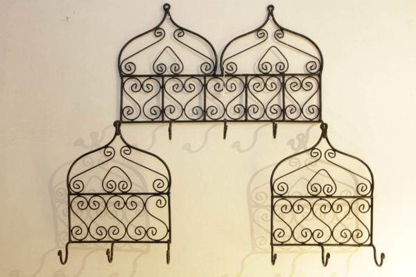 Metal Hangers with 5 (above) and 3 (below) hooks