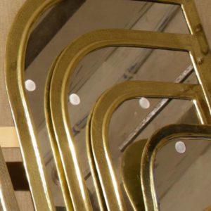 Teardrop Mirrors - Brass