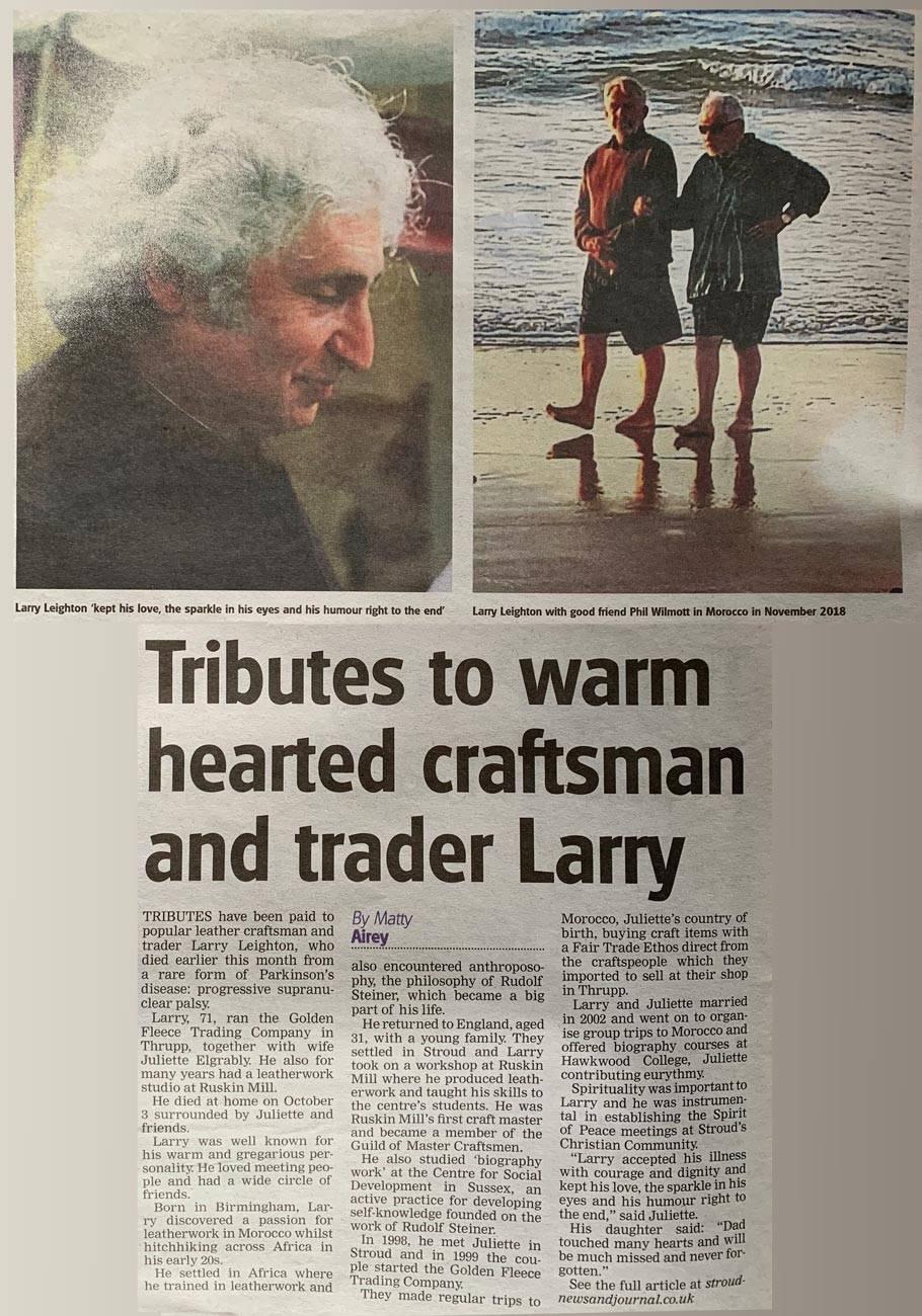 Press tribute to Larry Leighton