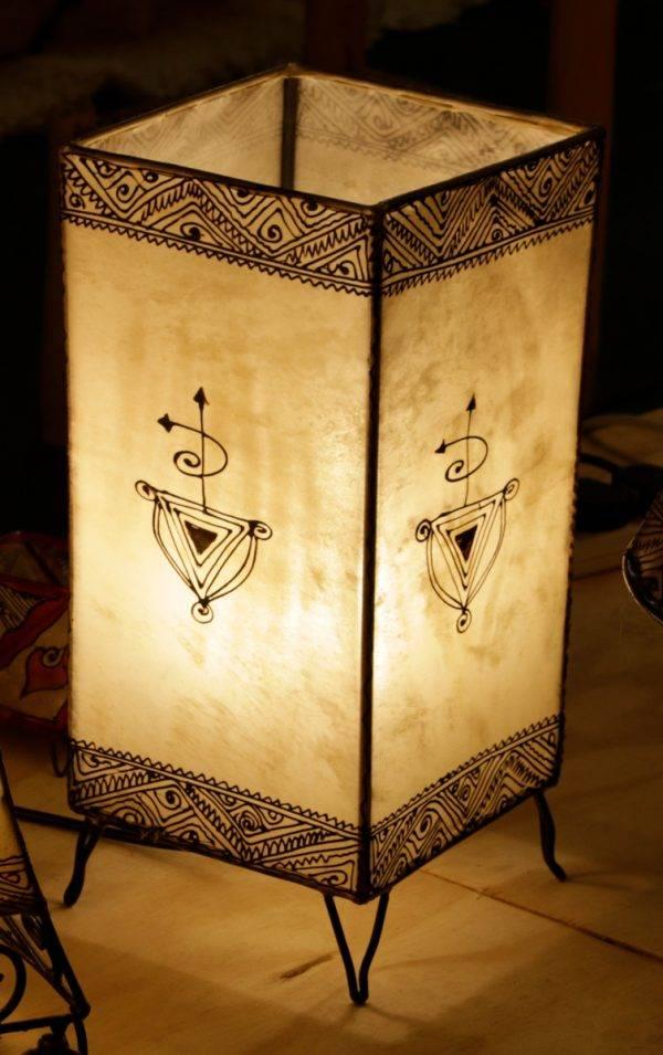 Square Henna lamp, 1 light