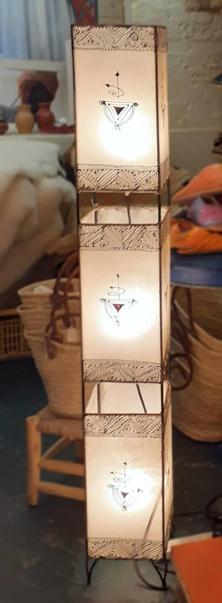 Square Henna lamp, 3 lights