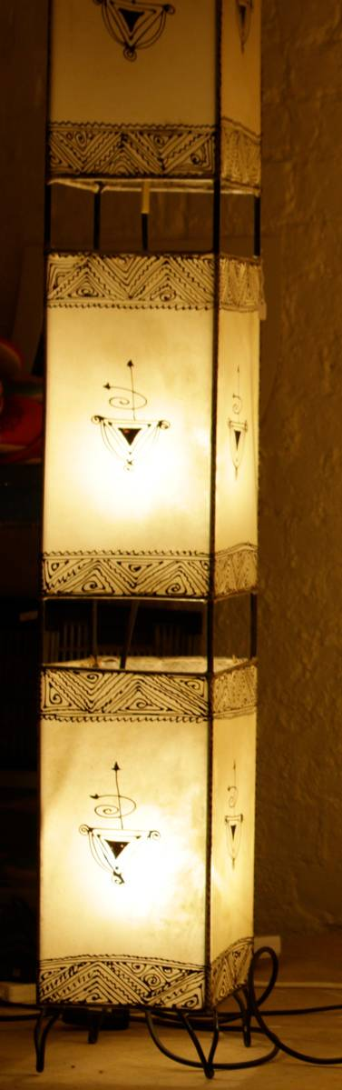 Square Henna Lamps